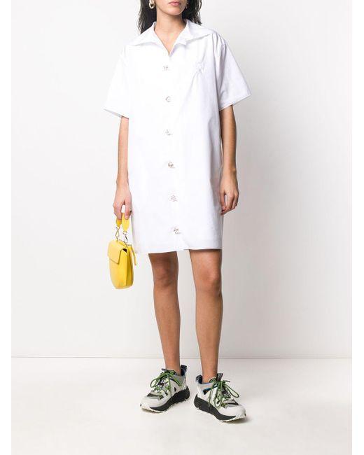 KENZO ショートスリーブ シャツドレス White
