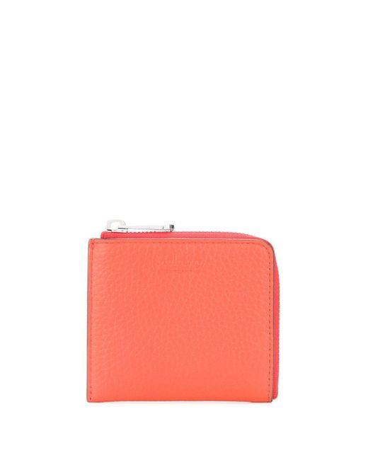 メンズ Mulberry ファスナー財布 Orange