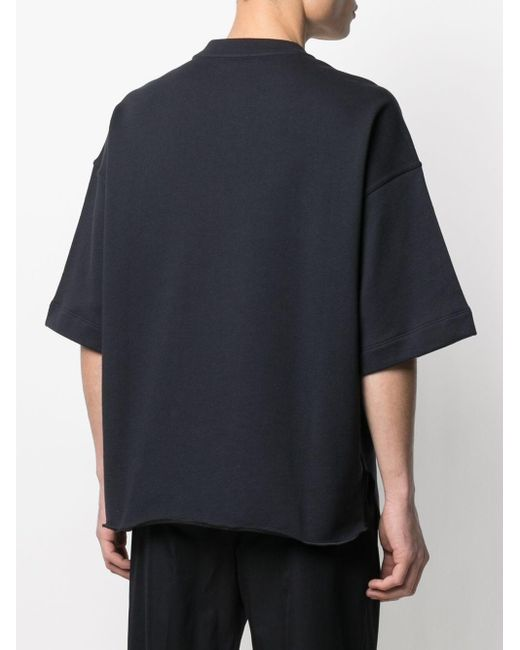 メンズ Jil Sander オーバーサイズ Tシャツ Blue