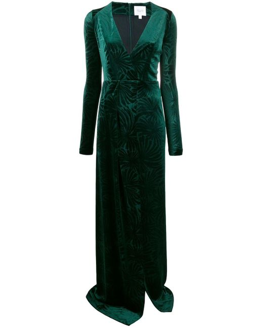 Galvan Winter Palm ドレス Green