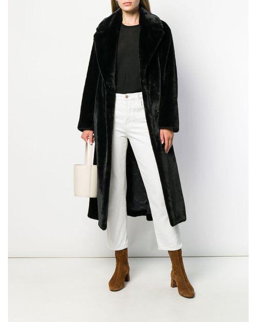 Manteau en fourrure artificielle P.A.R.O.S.H. en coloris Black