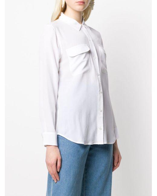 Equipment ポケット シャツ White