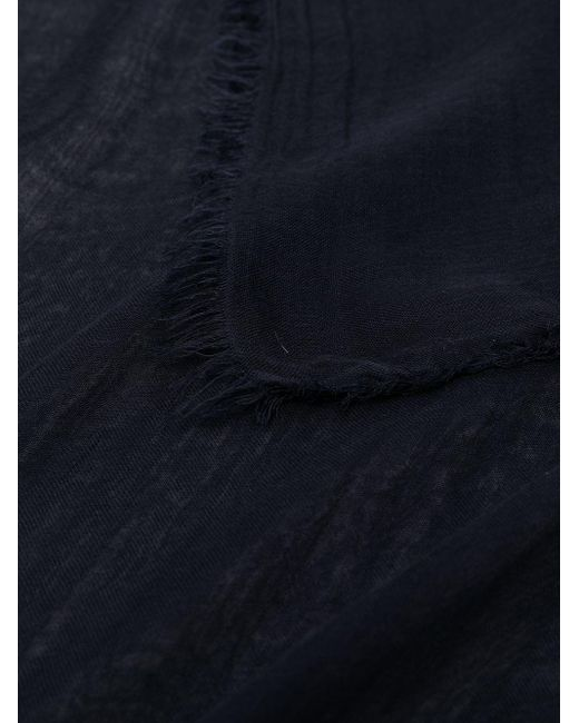Faliero Sarti フリンジ スカーフ Blue