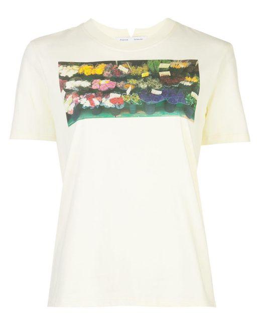 PROENZA SCHOULER WHITE LABEL プリント Tシャツ Yellow