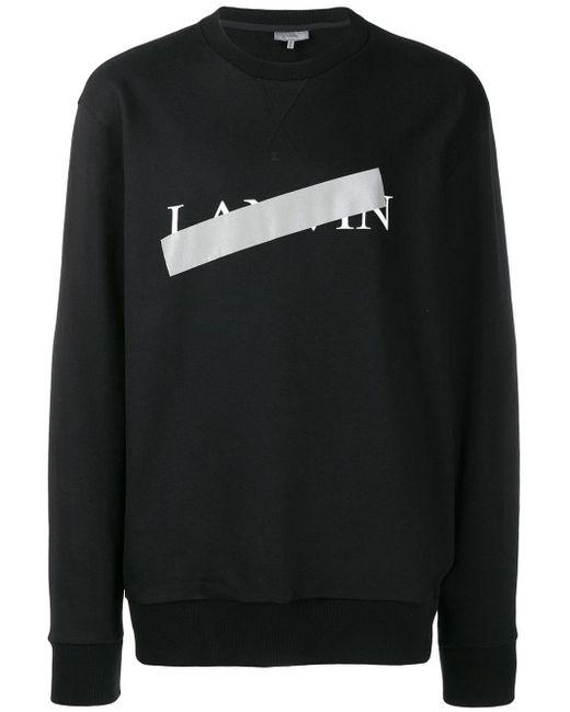 メンズ Lanvin ロゴセーター Black