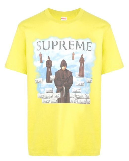 メンズ Supreme Levitation プリント Tシャツ Yellow