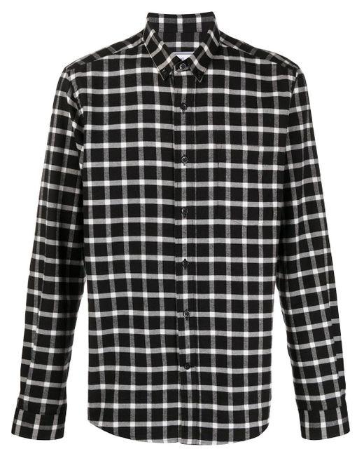Клетчатая Рубашка С Нагрудным Карманом AMI для него, цвет: Black