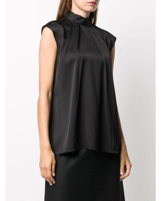 Драпированная Блузка С Рукавами Кап Alexander McQueen, цвет: Black