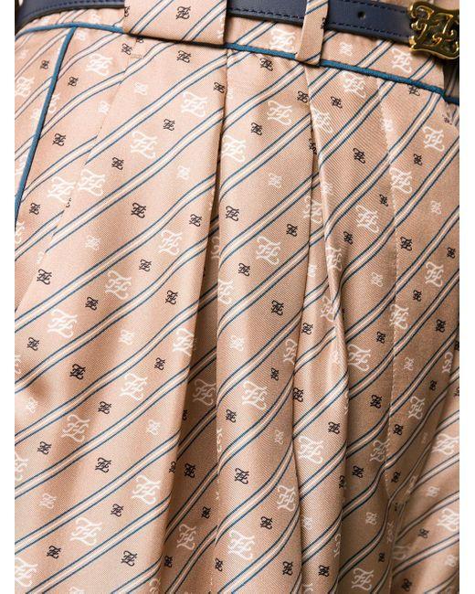 Брюки Прямого Кроя С Завышенной Талией Fendi, цвет: Multicolor
