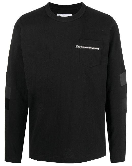 メンズ Sacai ロングtシャツ Black