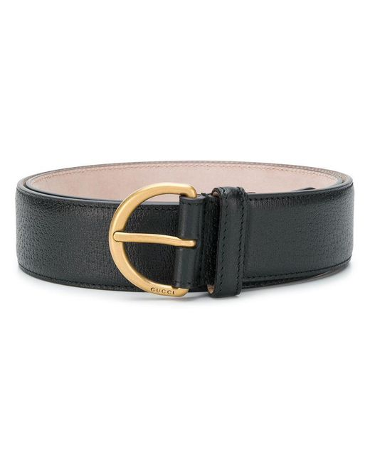 73c5c9a622702 Gucci Bee Plaque Belt in Black for Men - Lyst