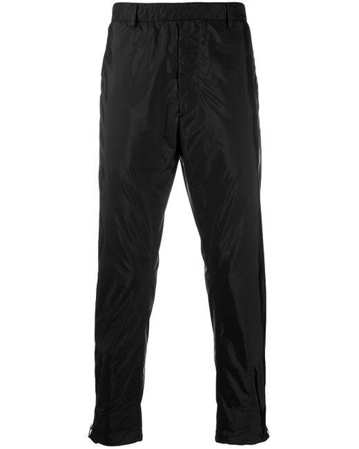 メンズ Prada ジップ トラックパンツ Black