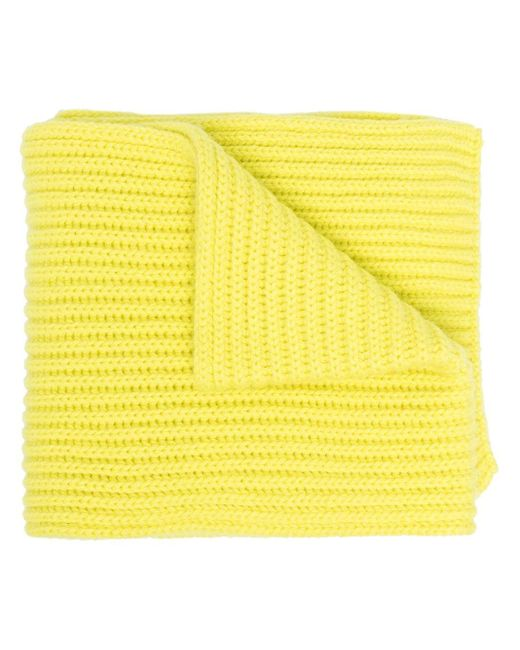 Pringle of Scotland Scottish カシミア リブスカーフ Yellow