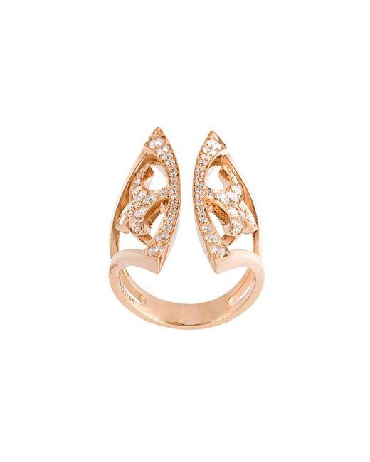 Anapsara - Metallic 'knight Kiss' Ring - Lyst