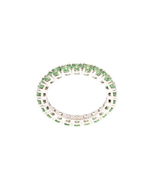 Dana Rebecca Multicolor 14kt White Gold Tsvavorite Eternity Ring