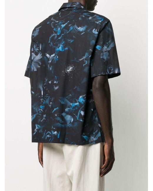 メンズ Paul Smith Floral Print Short-sleeved Shirt Black