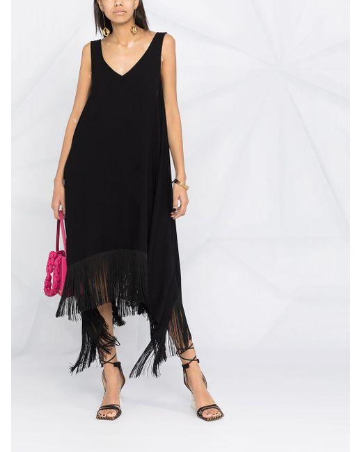 P.A.R.O.S.H. ノースリーブ ドレス Black