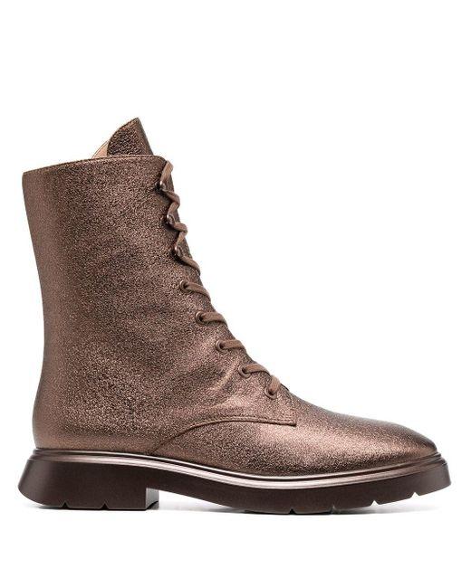 Ботинки На Шнуровке Stuart Weitzman, цвет: Brown