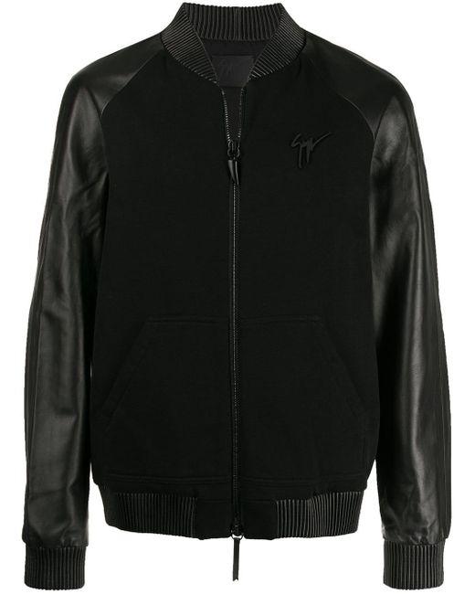 メンズ Giuseppe Zanotti ライダースジャケット Black