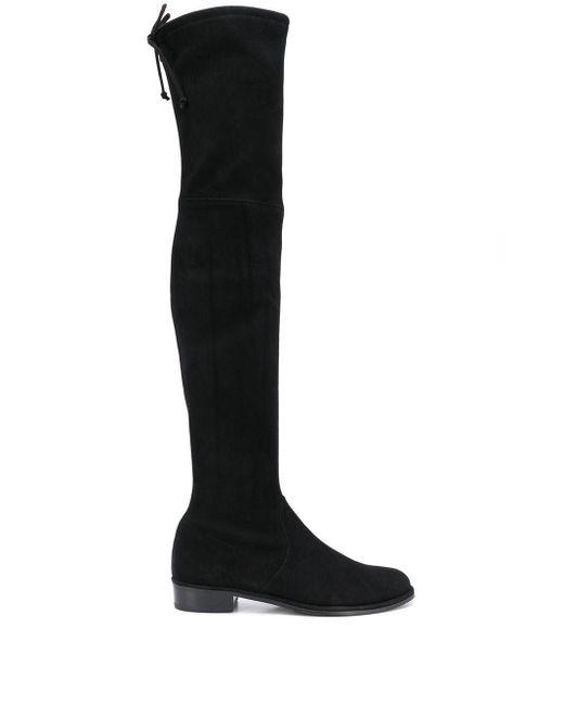 Ботфорты На Низком Каблуке Stuart Weitzman, цвет: Black