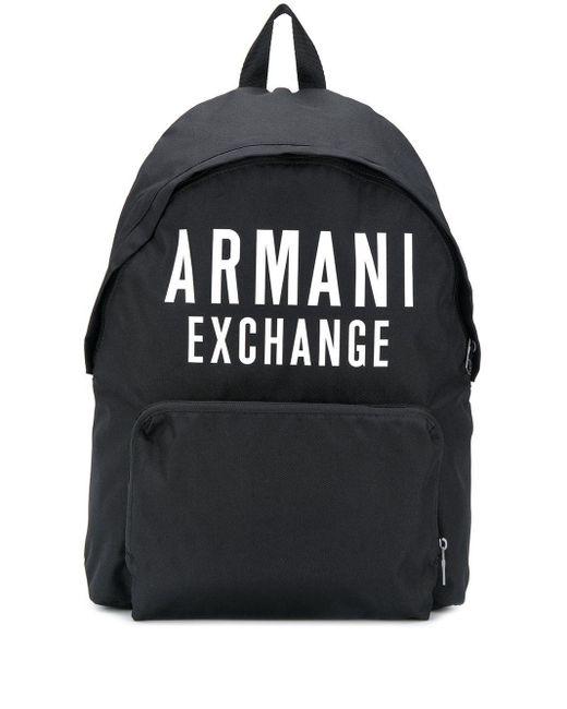 Zaino con logo di Armani Exchange in Black da Uomo