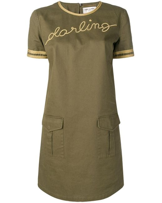 Saint Laurent Darling ドレス Green