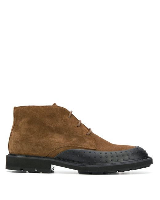 Tod's Brown Lace-up Desert Boots for men