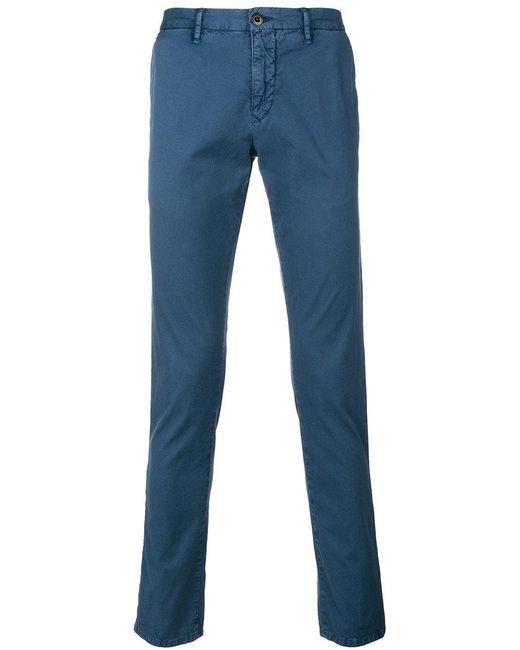 Incotex - Blue Straight-leg Trousers for Men - Lyst