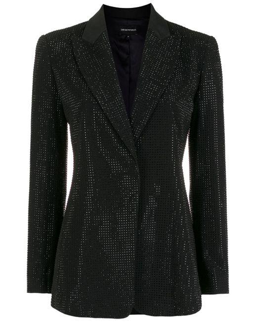 Emporio Armani デコラティブ シングルジャケット Black