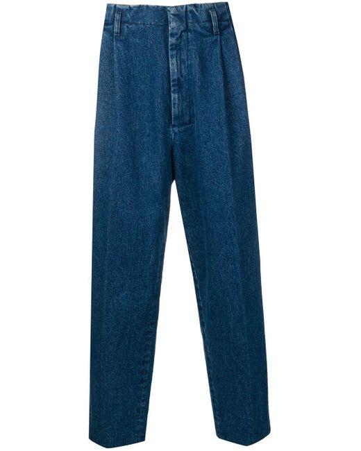 メンズ AMI プリーツ デニムパンツ Blue