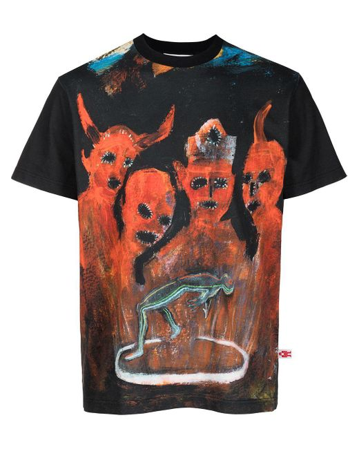 メンズ Walter Van Beirendonck X Pablo Iglesias Prada Tシャツ Black