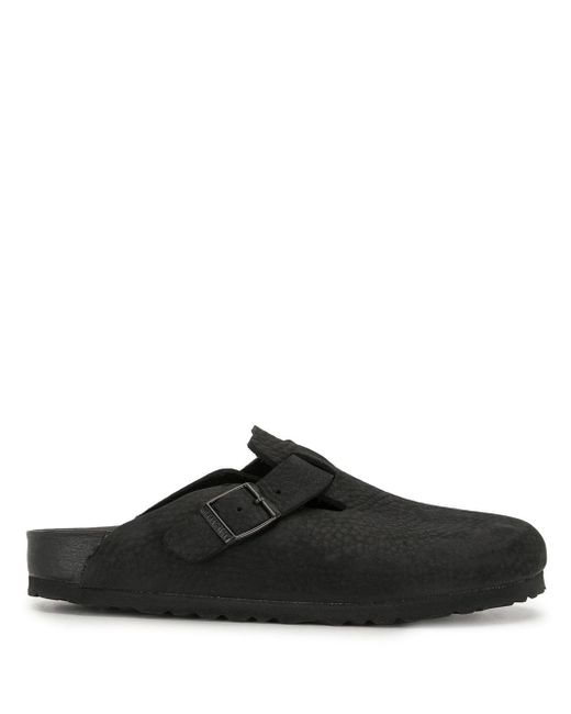 Birkenstock Black Boston Slip-on Clog Shoes
