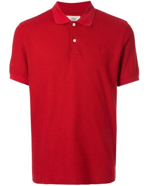メンズ Kent & Curwen ロゴ ポロシャツ Red
