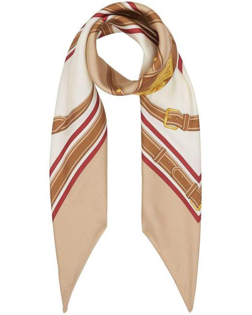 Burberry アーカイブプリント シルクスカーフ Multicolor