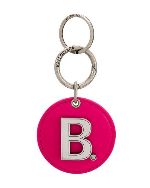 Balenciaga ロゴ キーリング Pink