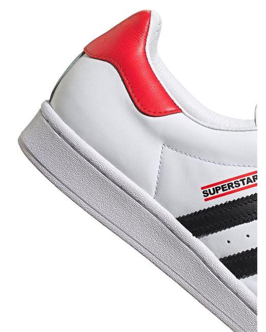 X Run-DMC baskets Superstar Cuir adidas en coloris Blanc - Lyst