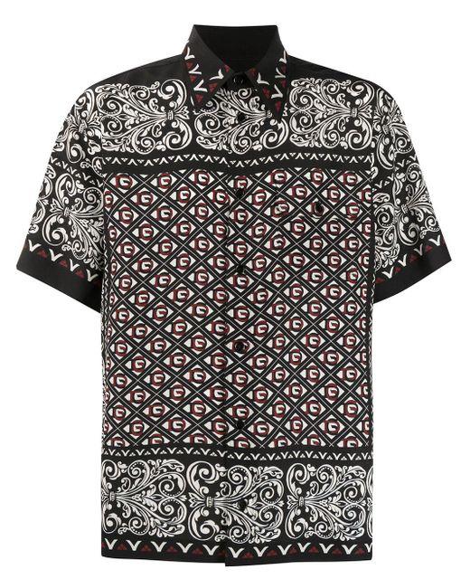 メンズ Dolce & Gabbana バンダナプリント シャツ Black
