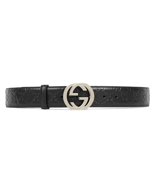 Gucci | Black Signature Leather Belt | Lyst