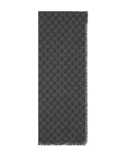 Étole à bande Web GG Gucci pour homme en coloris Black