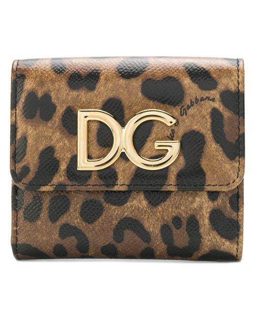 Маленький Кошелек С Леопардовым Принтом Dolce & Gabbana, цвет: Multicolor