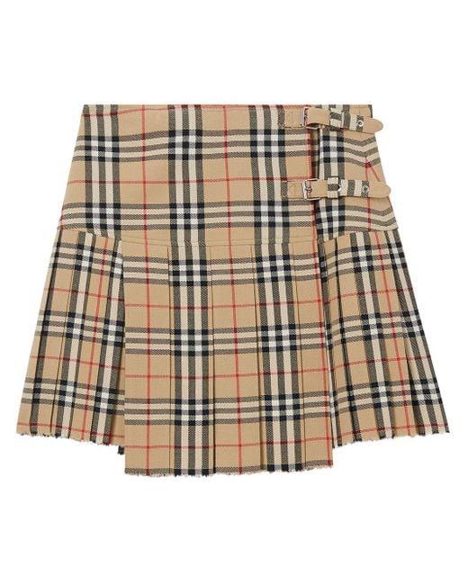 Burberry Zoe ウールミニキルトスカート Multicolor