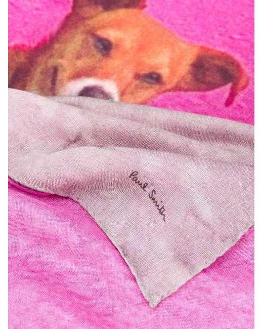 Paul Smith プリント スカーフ Pink