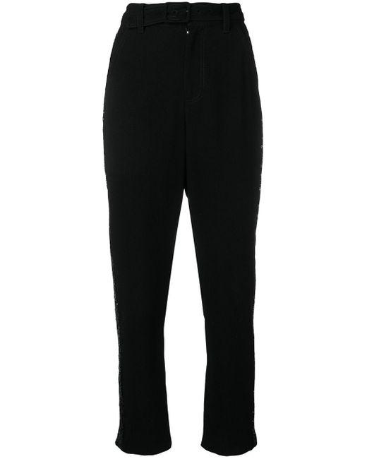 10 Crosby Derek Lam Pantalones con detalle de strass de mujer de color negro
