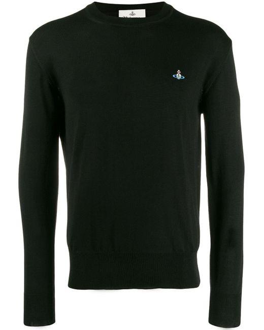 メンズ Vivienne Westwood ロゴ スウェットシャツ Black