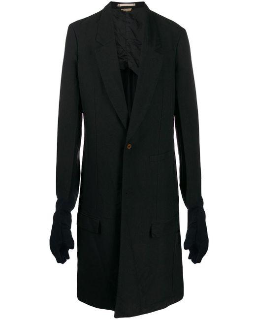 メンズ Comme des Garçons ロングコート Black