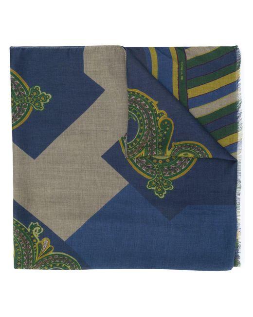 Pañuelo tejido Etro de hombre de color Blue