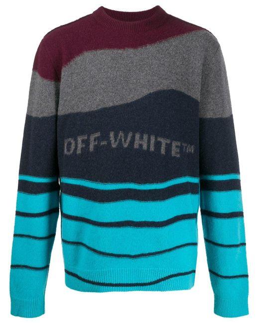 Полосатый Джемпер Off-White c/o Virgil Abloh для него, цвет: Red