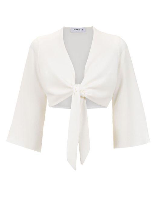 Olympiah Top Lucca corto de mujer de color blanco 0nHwC