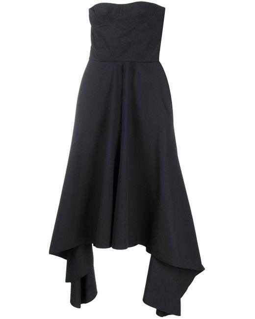 ROKH ベアトップ ドレス Black