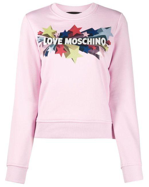 Love Moschino スター セーター Pink